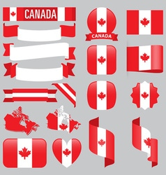 canada flags vector image