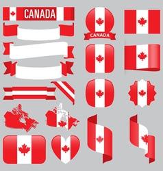 Canada flags vector