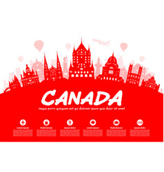 canada travel landmarks vector image