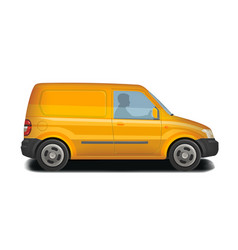 Car vehicle minivan icon delivery cargo vector