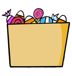 Cartoon Halloween Bucket Of Candy vector