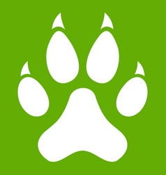 cat paw icon green vector image