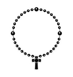 catholic denarius silhouette vector image