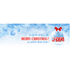 Christmas and new year facebook cover vector