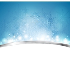 Christmas blue background with metal stripe vector image
