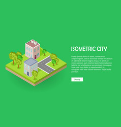 city street fragment isometric projection vector image