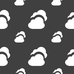 Cloud icon sign Seamless pattern on a gray vector image