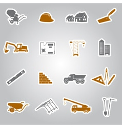 Construction stickers set eps10 vector