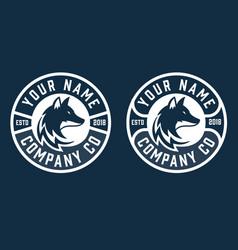 Creative circle fox logo round fox logo vector