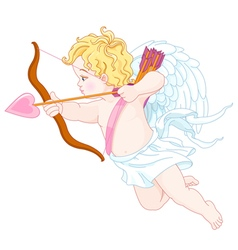 Cupid Shooting vector image