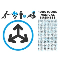 Direction Variants Icon with 1000 Medical Business vector