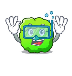 Diving shrub character cartoon style vector