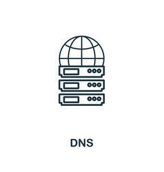 dns icon thin outline style design from web vector image