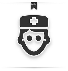 doctor avatar icon on white background vector image