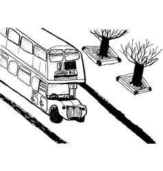 European capital sketch london modernist style vector