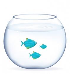 Fishes in aquarium vector