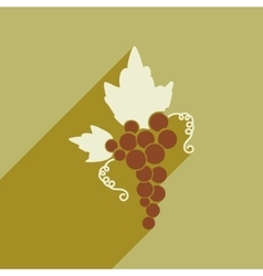 Flat web icon with long shadow bunch of grapes vector