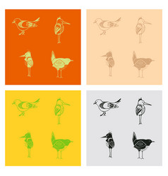 Funny hand drawn abstract bird ilustration vector