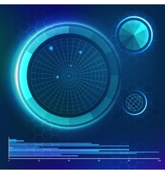 Futuristic user interface HUD element vector
