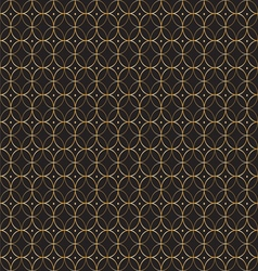 Geometric gold pattern of circles vector