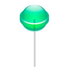 green lollipop icon isometric style vector image