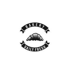 hand drawn pastries vintage bakery shop logo vector image