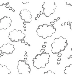 hand drawn speech bubble icon seamless pattern vector image