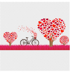 happy valentines day border vector image