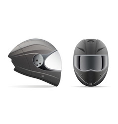High quality light gray motorcycle helmet front vector