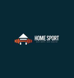 Home sport logo icon template design vector