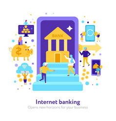 Internet banking flat vector