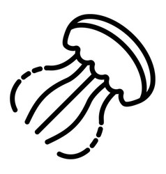 jellyfish icon outline style vector image