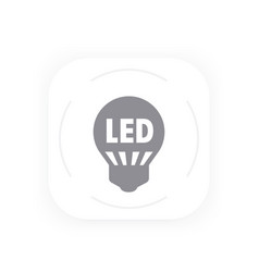 Led light bulb icon simple gray pictogram vector