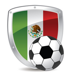 mexico shield soccer vector image