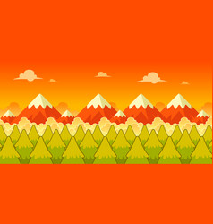 Mountain evening game background vector