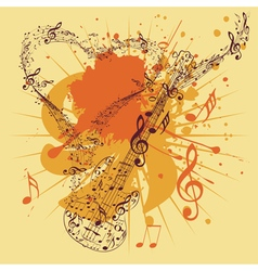 Music Poster with Guitar3 vector