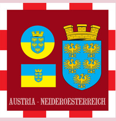 National ensigns of neideroesterreich - austria vector