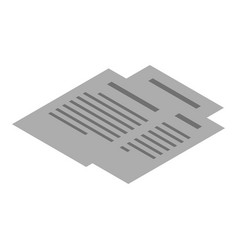 office paper icon isometric style vector image