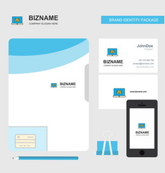 online banking business logo file cover visiting vector image