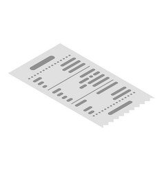 paper receipt icon isometric style vector image