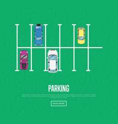 parking zone poster in flat style vector image