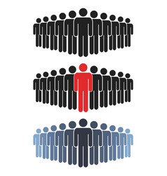 people group icon set working group team vector image