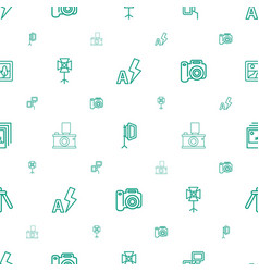 photograph icons pattern seamless white background vector image