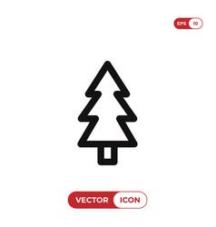 pine icon christmas treexmas symbol flat sign vector image