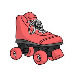 pink roller skate sketch doodle vector image