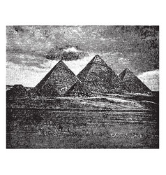 Pyramids ancient pyramid vintage engraving vector