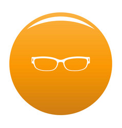 reading glasses icon orange vector image