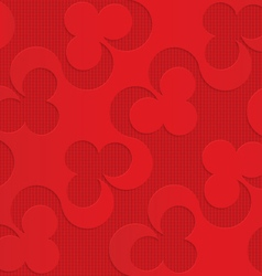 Red diagonal clubs on checkered background vector image