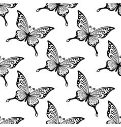 Seamless pattern of butterflies vector image