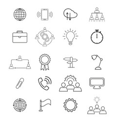 set information technology icons vector image